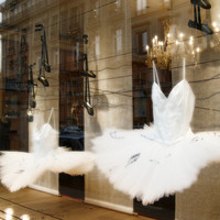 Paris decor, french photo, tutu dress, pointe, ballet shoes at shop window, parisian street, 5x7 (13x18) My Bestseller