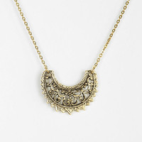 Open Filigree Crescent Moon Necklace - Urban Outfitters
