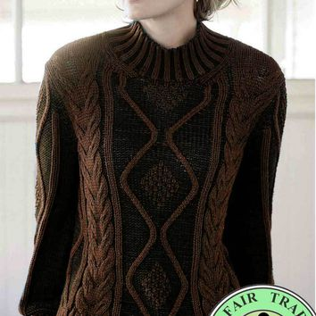 Eco-friendly Cable Sweater