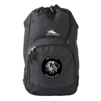 Dalmatian Black And White Firehouse Dog Backpack