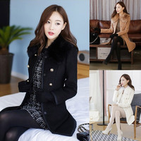 Sexy Women Wool Faux Fur Trench Parka Double-Breasted Winter Coat Jacket  7_S = 1917086084