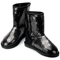 Black Sequin Adult Dance Boot; Balera