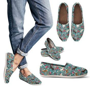 Horse Flower Casual Shoes