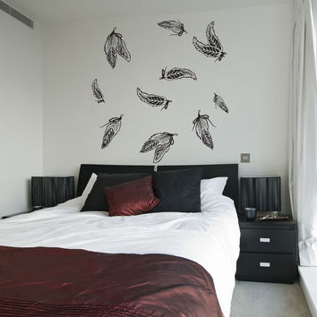 Vinyl Wall Decal Sticker Flock of Feathers #OS_DC287