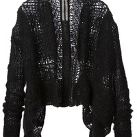 Rick Owens crocheted  cardigan