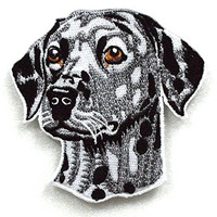 Animal022 - Dalmatian Patches - Dog Patch Iron On - Animal Patches - Applique Embroidered Patches - Iron on Patches - Backpack Patches - Size 9 X 8.5 Cm.
