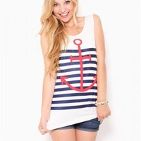 Striped Anchor Tank