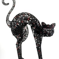 Kurt Adler Halloween Decoration, Lighted Black Cat - Holiday Lane - Macy's