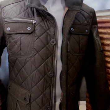 "Schott Nyc 28"" Diamond Quilted Coated Nylon Field Jacket NWT- MRSP 250$$ On Sale"