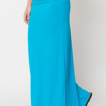 High Quality Solid Maxi Skirt- S-XL