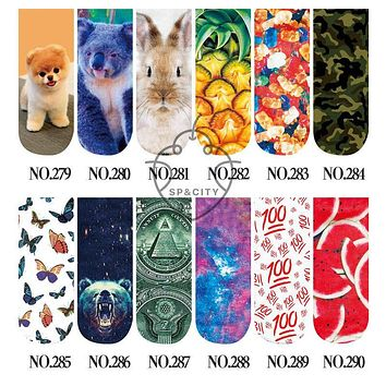 SP&CITY Fashion Animal Socks Fruit Watermelon Print 3D Socks Women Vintage Funny Sock Art Cheap Calcetines Antideslizantes Mujer