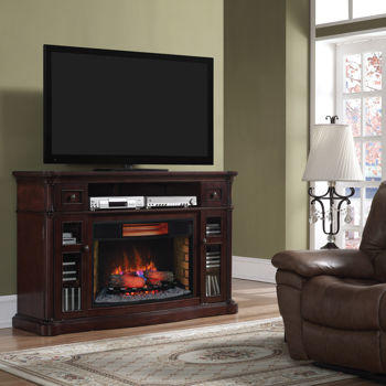 64 Media Mantel Electric Fireplace From
