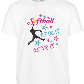 Girls Softball T Shirt | Girls Youth Softball Tee | Our T Shirt Shack