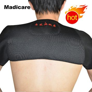 Magnetic Tourmaline heating shoulder support wrap Therapy tourmaline heat shoulder Protection brace