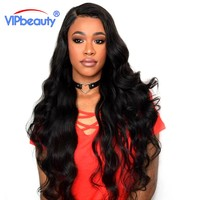 Vip Beauty Brazilian Body Wave 4 Bundles Human Hair Weave Non Remy Extensions 10-28 Inch 4 PC/lot Natural Color Free Shipping