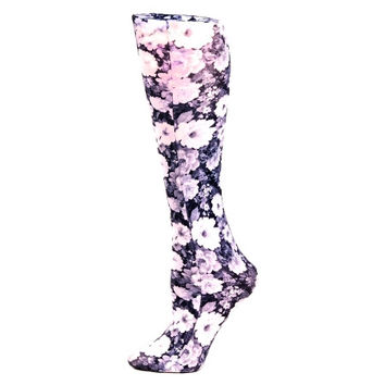 """Noir Roses"" Compression Stockings"
