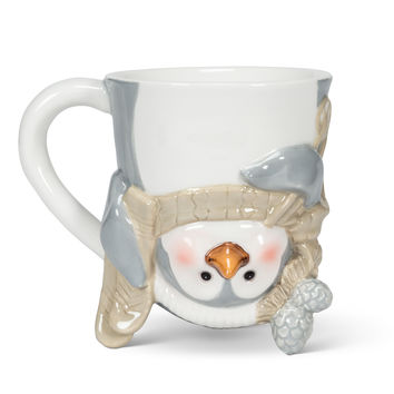 Penguin with Skis Flip Mug