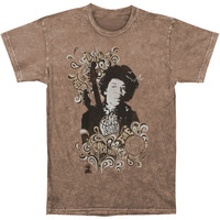 Jimi Hendrix Men's  Vintage T-shirt Brown Rockabilia