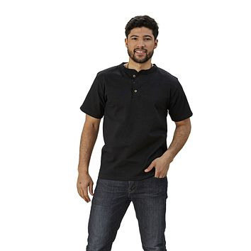 Adult Short Sleeve Henley Modern Fit