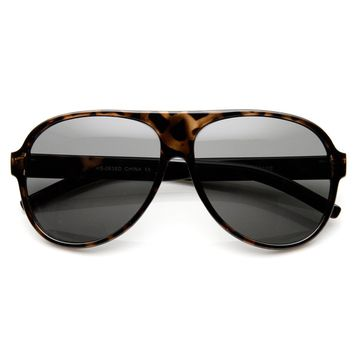 Retro 80s Fashion Tear Drop Super Dark Lens Aviator Sunglasses