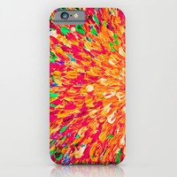 NEON SPLASH - WOW Intense Dash of Cheerful Color, Bold Water Waves Nature Lovers Modern Abstract iPhone & iPod Case by EbiEmporium