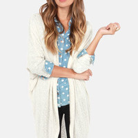 Bonne Draper Cream Cardigan Sweater
