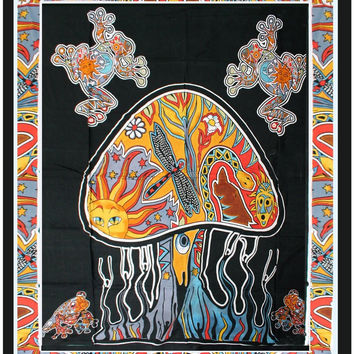 Psychedelic Mushroom Tapestry