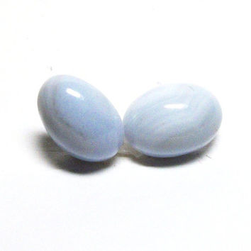 "Agate, blue lace agate, cabochon, blue white,  jewelry making, jewelry supplies, ""Robins egg blue"""