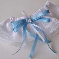 Something Blue Bridal Garter Traditional Wedding Brides Lace Leg  | ClassA - Wedding on ArtFire