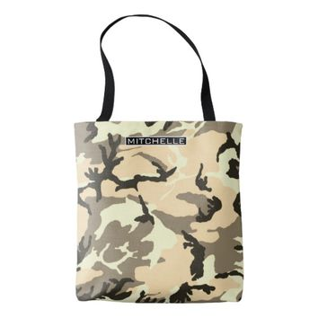 Personalized Desert Camo Tote Bag