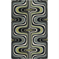 Throw Rug - Robin   S Egg Blue, Iron Ore, Fern Green, Dove Gray, Coal Black, Winter White