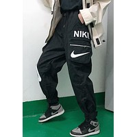 NIKE 2019 new functional zipper pocket casual overalls Black