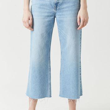 High-Rise Wide Crop Jeans