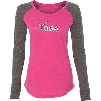 Yoga Clothing For You Yoga Spelling Preppy Patch Elbow Yoga Tee Shirt