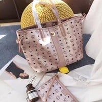 Fashion Autumn And Winter 2019 New Product Genuine Leather Letter Pattern High Capacity MCM Shoulder Bag Designer Handbags For Women