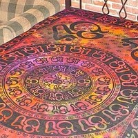 "Hippie/Indian Tapestry/Wall/Bedspread/Tablecloth Om Chakra 72"" x 108"" TP16TD"