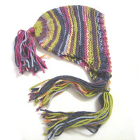 Soft striped bonnett with tassels, children bonnet, toddler size 1 year to 5 years READY TO SHIP, unique item!