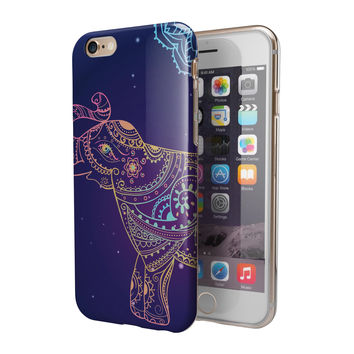 Colorful Sacred Elephant 2-Piece Hybrid INK-Fuzed Case for the iPhone 6/6s or 6/6s Plus