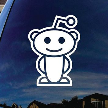 Reddit Alien Adhesive Decal Sticker Vinyl Decorative for Wall Car Auto Ipad Macbook Laptop