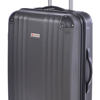 Canada 24 inch Charcoal Lightweight Hard Side Wheeled Suitcase '