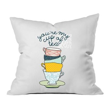 You're My Cup Of Tea 18x18 Throw Pillow Cover - Couples Gifts For Her - Wedding Decoration