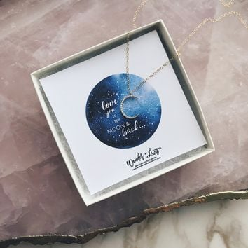To The Moon Crescent Necklace