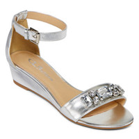 CL by Laundry Katherine Ankle-Strap Wedge Sandals