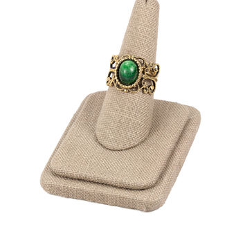 70's__Vintage__Adjustable Emerald Ring