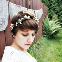 adeline faux vine crown by whichgoose on Etsy