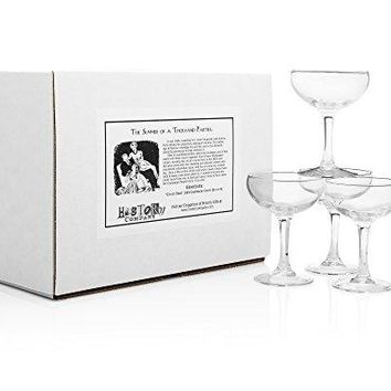 """""""City of Paris"""" 1924 Champagne Coupe (Gift Box Set of 4)"""