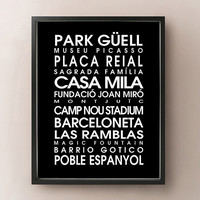Barcelona Bus Roll - Spain Print