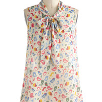 Chirp Thing's First Top | Mod Retro Vintage Short Sleeve Shirts | ModCloth.com
