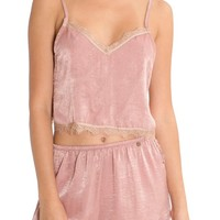 Midnight Bakery Crop Satin Camisole | Nordstrom