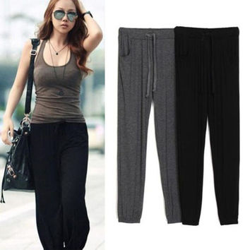 Women Lady Comfy Dance Jogging Gym Track Sport Casual Yoga Pants Trousers Gear = 1932229508